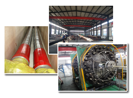 The factory, workshop and package of drilling hose.